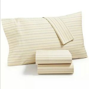 Martha Stewart Collection Striped KING SHEETS SET